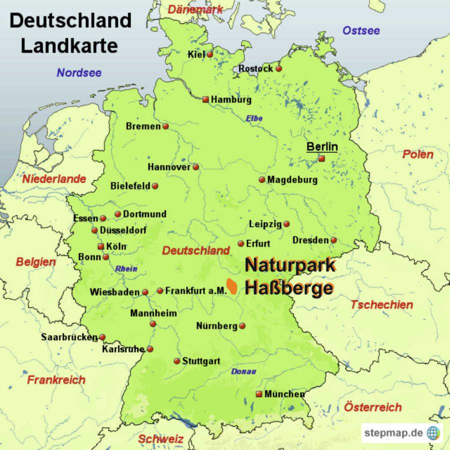 Mittelgebirge Deutschland Karte.Fränkisches Gasthaus Rädlein Lage Und Anfahrt